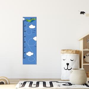 Falmatrica - Repülős magasságmérő matrica, Otthon & Lakás, Dekoráció, Falmatrica & Tapéta, Fotó, grafika, rajz, illusztráció, Örökítsd meg ahogy gyermeked megállíthatatlanul cseperedik. Azon túl, hogy egy kedves dekoráció, pra..., Meska