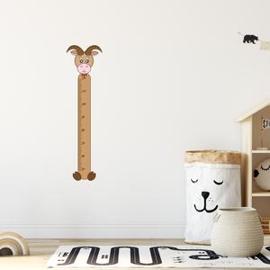 Falmatrica - Kecskés magasságmérő matrica, Otthon & Lakás, Dekoráció, Falmatrica & Tapéta, Fotó, grafika, rajz, illusztráció, Örökítsd meg ahogy gyermeked megállíthatatlanul cseperedik. Azon túl, hogy egy kedves dekoráció, pra..., Meska
