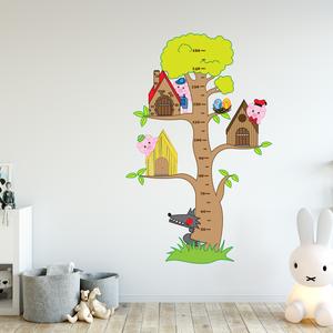 Falmatrica - A három kismalacos magasságmérő matrica, Otthon & Lakás, Dekoráció, Falmatrica & Tapéta, Fotó, grafika, rajz, illusztráció, Dokumentáld, örökítsd meg ahogy gyermeked megállíthatatlanul cseperedik. Azon túl, hogy egy kedves d..., Meska