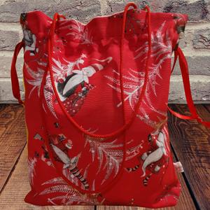 Mikulás táska, mikulás zsák, karácsonyi ajándék csomagoló , Táska & Tok, Bevásárlás & Shopper táska, Shopper, textiltáska, szatyor, Varrás, Egyedi mikulás zsák, mikulás táska, vagy a  karácsonyi ajándékot is elrejtheted benne:-), mellyel bi..., Meska