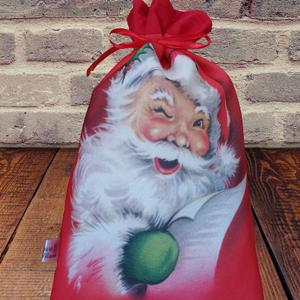 Mikulás zsák  télapó vagy  Rudolf , Karácsony & Mikulás, Mikulás, Varrás, Egyedi mikulás zsák, mellyel biztos sikert aratsz a gyermekeknél.\nAmikor kiürül is használható, akár..., Meska