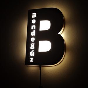 Világító betű névvel, éjjeli fény, Otthon & Lakás, Hangulatlámpa, Lámpa, Egyedi dekorációt szeretnél a gyerekszobába? (nem csak oda ajánljuk :) )  Természetes anyagok és fén..., Meska
