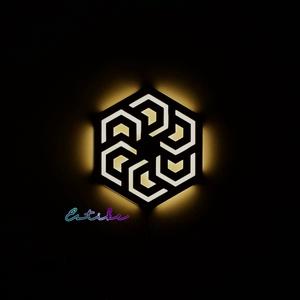 Hatszög alakú éjjeli lámpa - Meska.hu