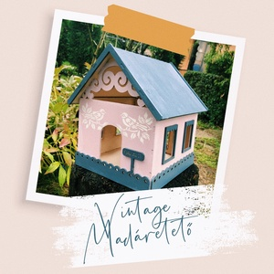 Vintage stílusú Madáretető, Otthon & Lakás, Ház & Kert, Madáretető & Itató, Festett tárgyak, Famegmunkálás,  Vintage stílusú madáretetők, amik színt visznek a komor őszbe. A te odúdnak mi lenne a fantázia nev..., Meska
