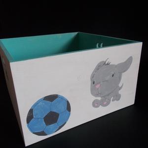 Kutyás labdás tároló, Játéktároló, Tárolás & Rendszerezés, Otthon & Lakás, Festett tárgyak, Esztétikus, prémium minőségű tároló doboz. Rendrakás egy pillanat alatt.\nA szép és ízléses környezet..., Meska