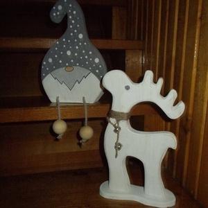 Golyós karácsonyi manó  , Manó, Plüssállat & Játékfigura, Játék & Gyerek, Famegmunkálás, Festett tárgyak, Golyós manó. Kézzel vágott, kézzel festett, polírozott, lakkozott, tömör fa termék. Méret nagyjából ..., Meska