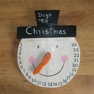 Forgatható orrú hóember fej Adventi naptár Karácsonyi visszaszámláló, Adventi naptár, Karácsony & Mikulás, Otthon & Lakás, Famegmunkálás, Festett tárgyak, Forgatható orrú hóember fej. Adventi naptár. Karácsonyi visszaszámláló. Kézzel vágott, kézzel festet..., Meska