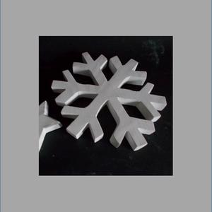 Óriás hópehely téli dekoráció kopogtató, Otthon & Lakás, Karácsony & Mikulás, Festett tárgyak, Famegmunkálás, Hópehely, karácsonyi, téli dísz. Igényesen kidolgozott, fából készült, kézzel vágott, kézzel festett..., Meska