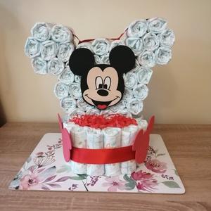 Mickey egér pelenkatorta plüssel vagy dekorgumival , Játék & Gyerek, Babalátogató ajándékcsomag, Mindenmás, Baba látogatóba készülsz vagy éppen a kolléganőd babát vár? Nem tudod mit vigyél ajándékba? Pelenkat..., Meska