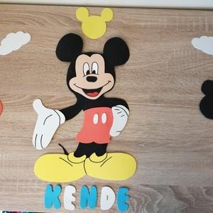 Gyerekszoba dekoráció Mickey egér szett dekorgumiból , Otthon & Lakás, Dekoráció, Betű & Név, Mindenmás, Gyerek szoba díszítésre nagyszerű ajándék lehet ez a Mickey egeres szett. Dekorgumiból készült, sajá..., Meska