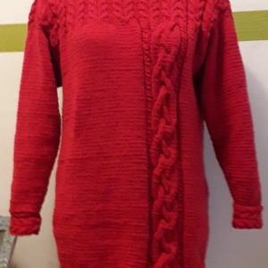 Kála kézzél kötött kasmír pulóver, Ruha & Divat, Női ruha, Pulóver & Kardigán, Kötés, 100 % kasmírgyapjúból\nA képen látható kasmír pulóver 42-44-es méret , hosszított fazonban készült.\nH..., Meska
