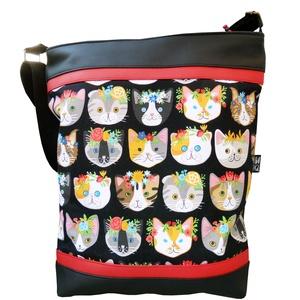 Hipszter macskás táska (gubolyka) - Meska.hu