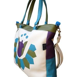 Népi mintás tulipános táska (bézs) (gubolyka) - Meska.hu