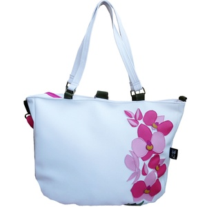Orchideás hátizsák és pakolós táska egyben (gubolyka) - Meska.hu