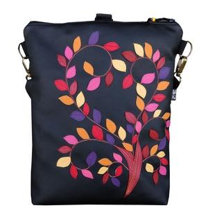 Őszi lomb táska (fekete) (gubolyka) - Meska.hu