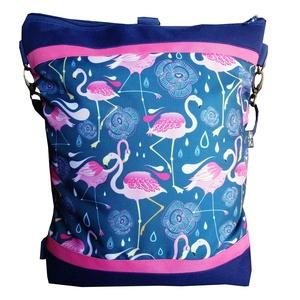 Flamingós hátizsák és oldaltáska egyben (gubolyka) - Meska.hu