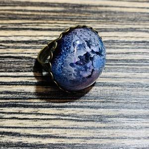 Kék műgyanta gyűrű, Ékszer, Gyűrű, Mindenmás, Garantáltan egyedi, műgyantából készült gyűrű. \nÁllítható, ezáltal  szinte bárki számára megfelelő m..., Meska