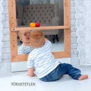 Montessori-tükör – Éger fából, Játék & Gyerek, 3 éves kor alattiaknak, Készségfejlesztő, Famegmunkálás, A nagy érdeklődésre való tekintettel a következő rendeléseket január 25-én tudjuk teljesíteni. Megér..., Meska