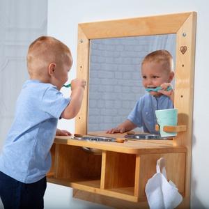 Montessori mosdó és tükör - Éger fából, Játék & Gyerek, 3 éves kor alattiaknak, Készségfejlesztő, Famegmunkálás, A nagy érdeklődésre való tekintettel a következő rendeléseket január 25-én tudjuk teljesíteni. Megér..., Meska
