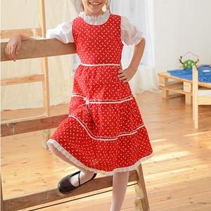 Pirosfestő 110-152-es lány ruha madeira  csipke díszítéssel, Táska, Divat & Szépség, Gyerekruha, Ruha, divat, Gyerek & játék, Kamasz (10-14 év), Gyerek (1-10 év), Varrás, A pirosfestő mintájú lány ruha anyaga 100 % pamut. A hátán cipzárral záródik, és a bősége két oldalt..., Meska