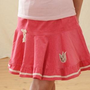 PÖRGŐS kord szoknya, 110-164-es, világos rózsaszín, lány, pamut  csipke díszítéssel , Táska, Divat & Szépség, Gyerekruha, Ruha, divat, Gyerek & játék, Gyerek (1-10 év), Kamasz (10-14 év), Varrás, Hímzés, A világos rózsaszín, pörgős, lány kordbársony szoknya anyaga bőrbarát: 95 % pamut, 5 % elasztán (ez ..., Meska