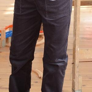 GUMIS derekú, fiú, kényelmes kord nadrág, 62-104-es, kékes-szürke,  két zsebbel , Nadrág, Babaruha & Gyerekruha, Ruha & Divat, Varrás, A fiú kordbársony nadrágunk anyaga bőrbarát: 95% pamut, 5% elasztán ( ez utóbbitól válik sztreccsé a..., Meska