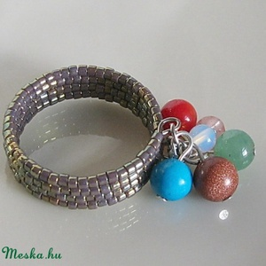 Gyógyító angyal gyűrű (nagy méret), Ékszer, Ékszerkészítés, Gyöngyfűzés, gyöngyhímzés, Meska