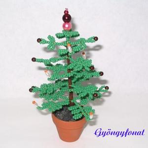 Karácsonyfa gyöngyből  (gyongyfonat) - Meska.hu