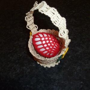 Húsvéti apróságok, Húsvéti díszek, Ünnepi dekoráció, Dekoráció, Otthon & lakás, Horgolás, Horgolt húsvéti tojástartók különböző színekben és mintával., Meska