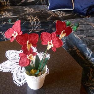 Horgolt Orchidea, Csokor & Virágdísz, Dekoráció, Otthon & Lakás, Horgolás, Sajátkészítésű különböző színű horgolt Orchideák.Saját részre vagy ajándékba., Meska