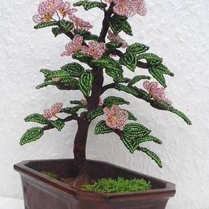 Virágos bonsai (Gyongykertesz) - Meska.hu