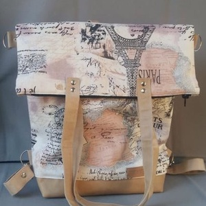 3 az 1 -ben  ZEKE táska, Táska, Divat & Szépség, Táska, Hátizsák, Válltáska, oldaltáska, Varrás, Bútorvászon és bőr kombinációjával készítettem. Hátizsákból a levehető /állítható / pánt segítségéve..., Meska