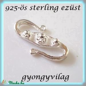 925-ös ezüst S lánckapocs ELK S 02 - gyöngy, ékszerkellék - egyéb alkatrész - Meska.hu