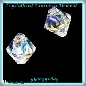 SwarovskiTop Drilled 8mm-es  2db  GYSWGY TD8 , Gyöngy, ékszerkellék, Swarovski kristályok, Ékszerkészítés, Gyöngy, Eredeti swarovski kristály Top Drilled, felül fúrt .\nSzín: crystal ab\nMéret:8mm\n2db / csomag\n\nAz ár ..., Meska