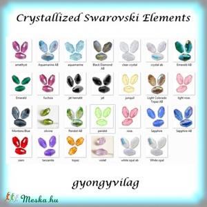 Swarovski barrel 9 mm-es  több színben  GYSWGY B9 , Gyöngy, ékszerkellék, Swarovski kristályok, Ékszerkészítés, Gyöngy, Eredeti swarovski kristály barrel .\n\nSzín: több színben\nMéret:6x9 mm\n\nA második fotón a  teljes szín..., Meska