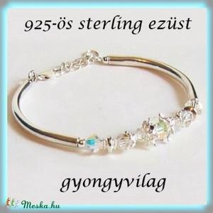 925-ös finomságú sterling ezüst köztes / gyöngy / díszitőelem EKÖ 47   - Meska.hu