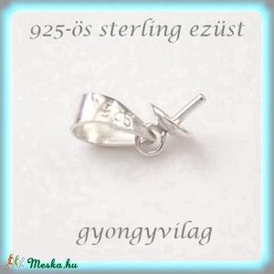 925-ös ezüst medálkapocs EMK 26-3, Gyöngy, ékszerkellék, Egyéb alkatrész, Ékszerkészítés, Gyöngy, 925-ös fémjellel ellátott valódi ezüst (bevizsgált)medálkapocs, stift félig fúrt gyöngyhöz .\n\n\nA swa..., Meska