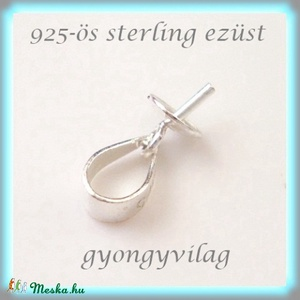 925-ös ezüst medálkapocs EMK 26-4, Gyöngy, ékszerkellék, Egyéb alkatrész, Ékszerkészítés, Gyöngy, 925-ös fémjellel ellátott valódi ezüst (bevizsgált)medálkapocs, stift félig fúrt gyöngyhöz .\n\n\nA swa..., Meska