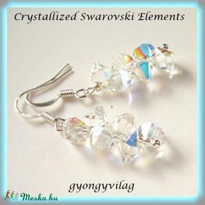 Swarovski kristály Top Drilled fülbevaló SFEB-SW23, Ékszer, Fülbevaló, Lógó fülbevaló, Ékszerkészítés, Gyöngyfűzés, gyöngyhímzés, Meska