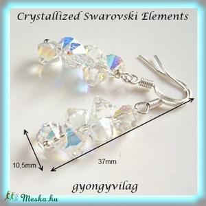 Swarovski kristály Top Drilled fülbevaló SFEB-SW23 - Meska.hu