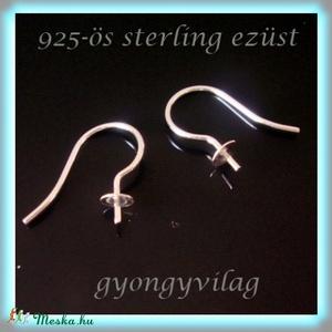 925-ös ezüst fülbevaló kapocs EFK A 12 - gyöngy, ékszerkellék - egyéb alkatrész - Meska.hu