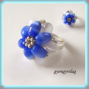 fűzött gyűrű több  színben SGYEB01, Ékszer, Gyűrű, Gyöngyös gyűrű, Ékszerkészítés, Gyöngyfűzés, gyöngyhímzés, Meska
