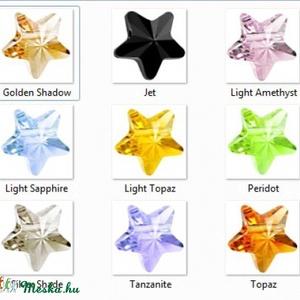 Swarovski csillag 8mm-es több színben  GYSWGY CS8 , Gyöngy, ékszerkellék, Swarovski kristályok, Ékszerkészítés, Gyöngy, SWAROVSKI KRISTÁLY KERESZTBEN  FÚRT CSILLAG , TÖBB SZÍNBEN !\n\nMéret:8mm\n\nAz ár egy darabra vonatkozi..., Meska