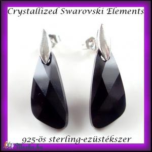 Swarovski kristály wing 23mm-es  925-ös sterling ezüst fülbevaló kapoccsal, Ékszer, Lógó fülbevaló, Fülbevaló, Ékszerkészítés, Gyöngyfűzés, gyöngyhímzés, Meska