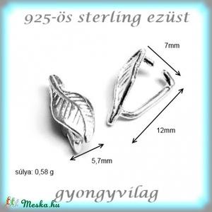 925-ös ezüst medálkapocs EMK 31 - gyöngy, ékszerkellék - egyéb alkatrész - Meska.hu