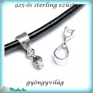 925-ös ezüst medálkapocs EMK 40, Gyöngy, ékszerkellék, Egyéb alkatrész,  925-ös fémjellel ellátott valódi ezüst (bevizsgált)medálkapocs.  A méreteket a fotón láthatod.   Az..., Meska