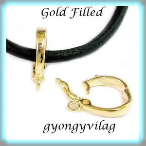 Gold Filled medáltartó EMT 15G , Gyöngy, ékszerkellék, Egyéb alkatrész, Ékszerkészítés, Mindenmás, Szerelékek, 14K arannyal bevont (gold filled) 925-ös ezüst\n\n\nAz ár 1db medál tartóra vonatkozik.\n\n\nA Gold Filled..., Meska
