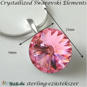 Swarovski 925-ös sterling ezüst bevizsgált rivoli 14  - ékszer - nyaklánc - medálos nyaklánc - Meska.hu