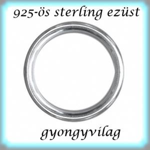 925-ös ezüst szerelőkarika zárt ESZK Z 5 x 0,7mm-es , Gyöngy, ékszerkellék, Egyéb alkatrész, Ékszerkészítés, Mindenmás, Szerelékek, 925-ös valódi ezüst (bevizsgált) 5mm átmérőjű 0,7mm drótvastagságú ezüst zárt szerelőkarika.\n\n2db/cs..., Meska
