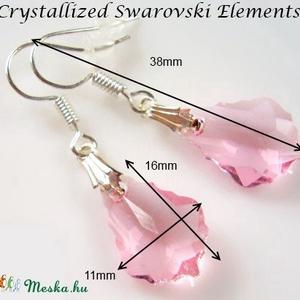 Swarovski kristály fülbevaló -16mm-es barokk  több színben  - Meska.hu